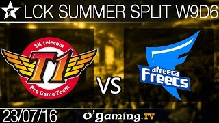 SKT T1 vs Afreeca Freecs - LCK Summer Split 2016 - W9D6
