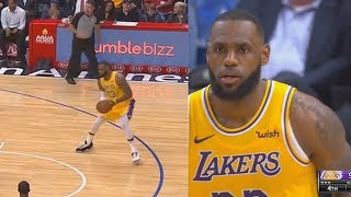 LeBron James Steals James Harden's Step-Back & Goes Crazy In Lakers Return! Lakers vs Clippers