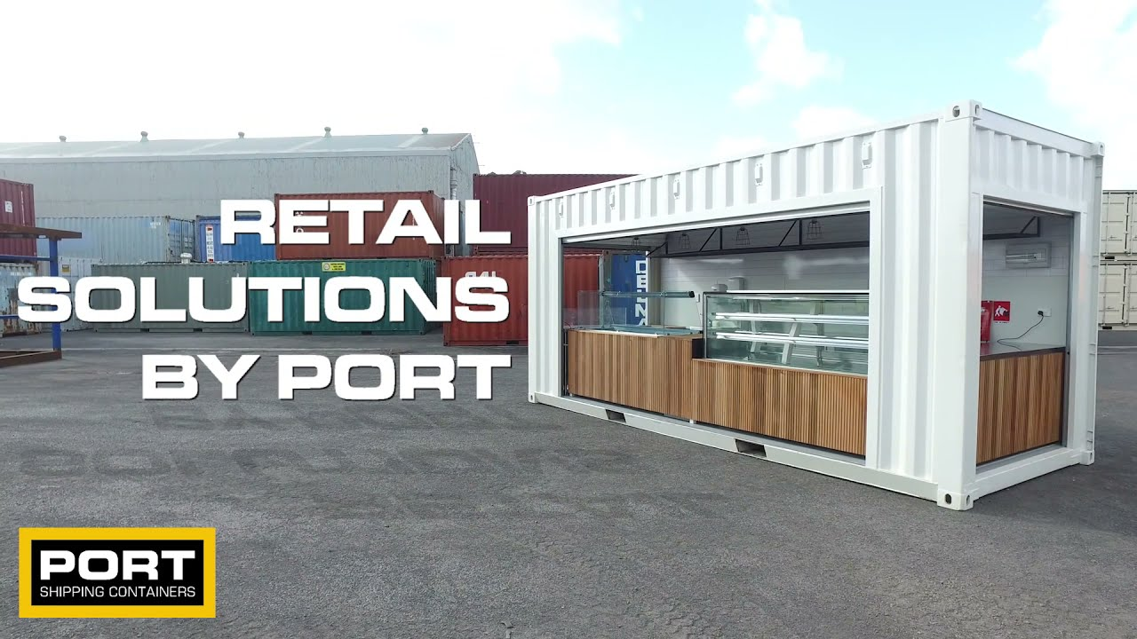 Exhibition Stand Build Up : Shipping container cafe pop up