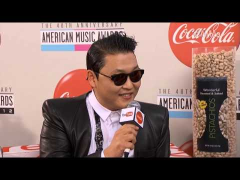 Psy Red Carpet Interview - AMA 2012
