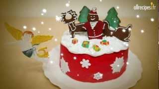 Décorer un magnifique gâteau de Noël