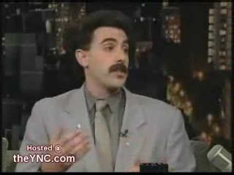 borat on letterman