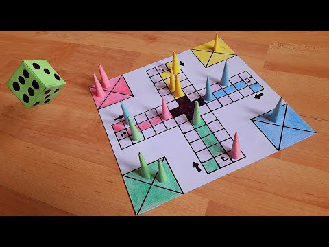 How to make a LUDO GAME at home   DIY   Board, Tokens & Dice