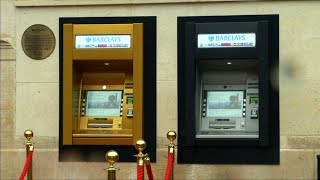 Five decades since it heralded a transformation in the way people obtained and used cash, the world's first ATM was turned into gold for celebrations of its fiftieth anniversary.Subscribe here: https://goo.gl/GHXtS1Follow us on Twitter: @boomlive_inLike us on: facebook.com/boomnews