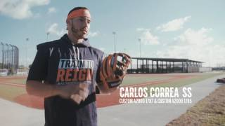 The trip to Houston Astros Spring Training camp is always an action-packed one for the Wilson Baseball glove team. Superstar middle infield duo Carlos Correa (Custom A2000 1787 and Custom A2000 1785) and Jose Altuve (A2000 JA27 GM) picked up their new gamers, pitchers Collin McHugh (Custom A2000 XL) and Lance McCullers (A2K JF16) talk about the inspiration behind their gloves, and plenty more Houston players grab their leather. For more, visit Wilson.com/GloveDay.