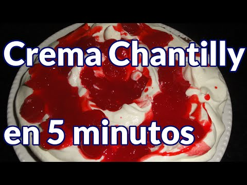 como hacer crema chantilly en 5 minutos