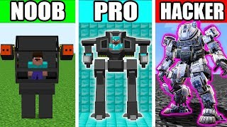 Video Minecraft - NOOB vs PRO vs HACKER : SUPER ROBOT TITAN Challenge in Minecraft Animation MP3, 3GP, MP4, WEBM, AVI, FLV Juni 2019