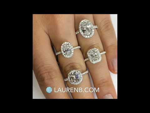 Double Edge Halo Engagement Rings Collection