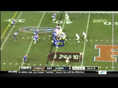 Ronald Powell vs Florida St. 2011 video.