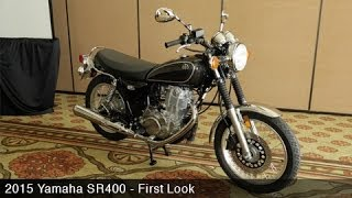 4. 2015 Yamaha SR400 First Look - MotoUSA
