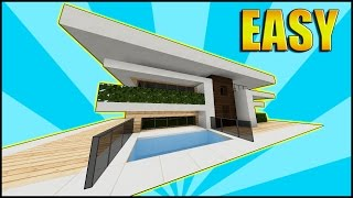 Minecraft: How To Build A Small Modern House Tutorial / Mansion Tutorial 2016