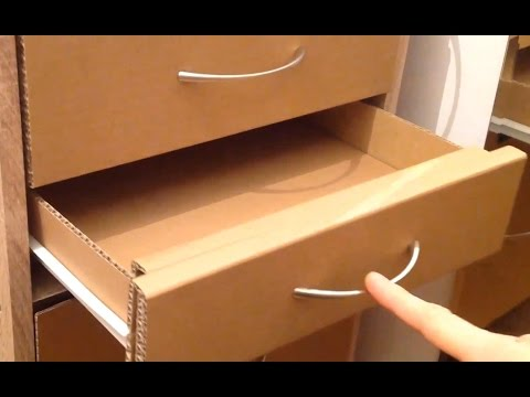 Video How to make a cardboard drawer (corrugated cardboard furniture) download in MP3, 3GP, MP4, WEBM, AVI, FLV January 2017