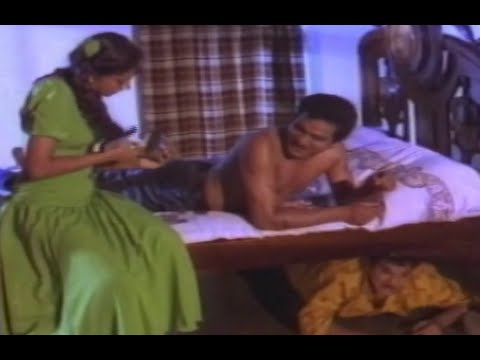 Kannaya Kittaya Movie Scenes - Shobana applies cream to Rajendra Prasad - Brahmanandam, Aamani