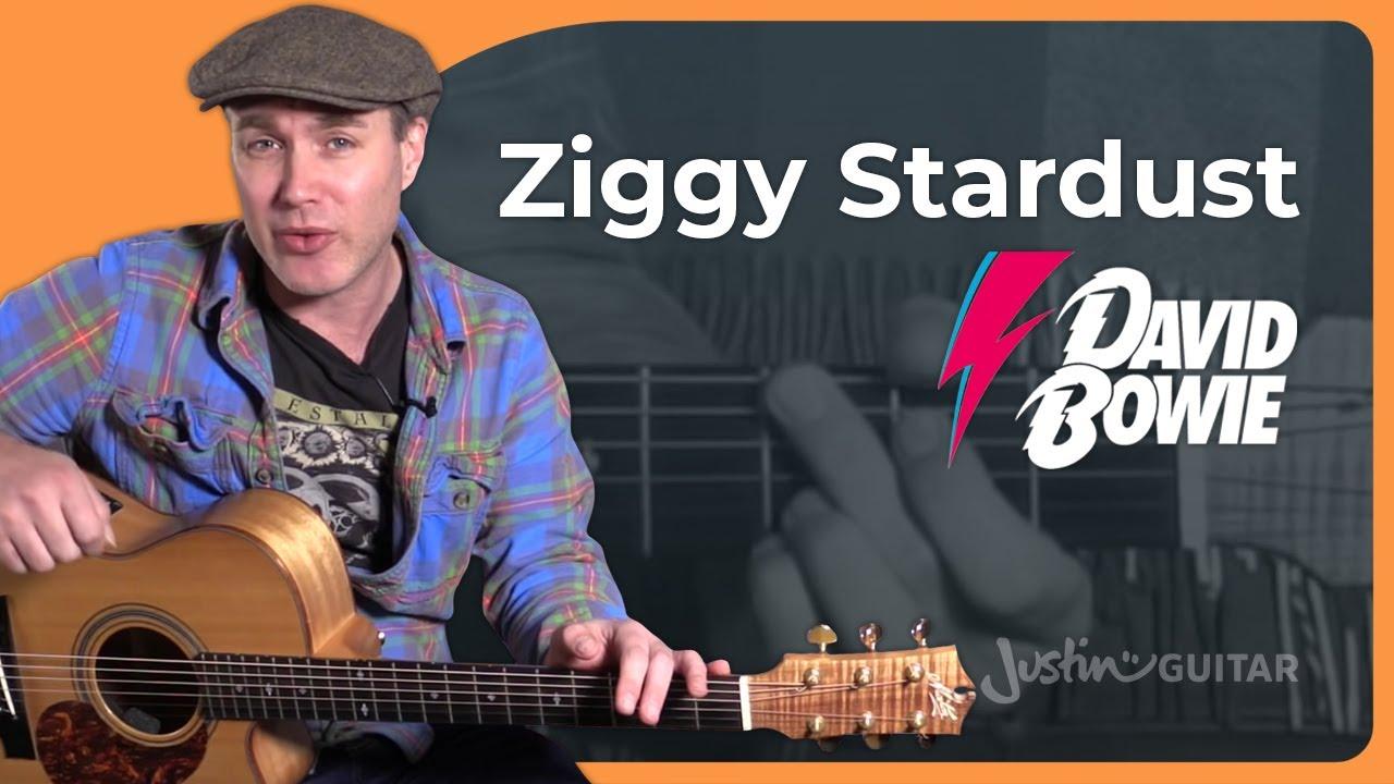 Ziggy Stardust – David Bowie – Tribute Guitar Lesson Tutorial