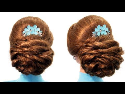 Вечерние прически плетением кос