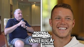 Christian McCaffrey on playing with Cam Newton, explaining his running philosophy | NBC Sports