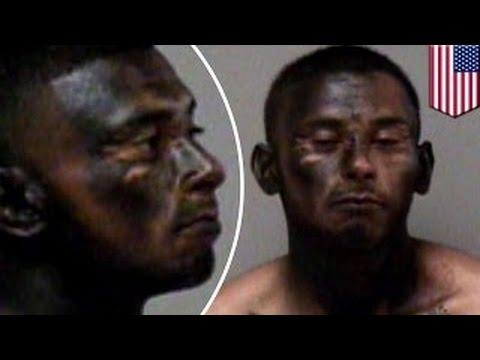 Угонщик выкрасил лицо в чёрный цвет, чтобы скрыться от полиции