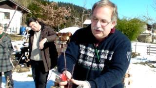 #309 Schneiden im Garten 2011 - Obstbäume in Doren Bregenzerwald 5v8 (3-fach veredelter Apfelbaum)