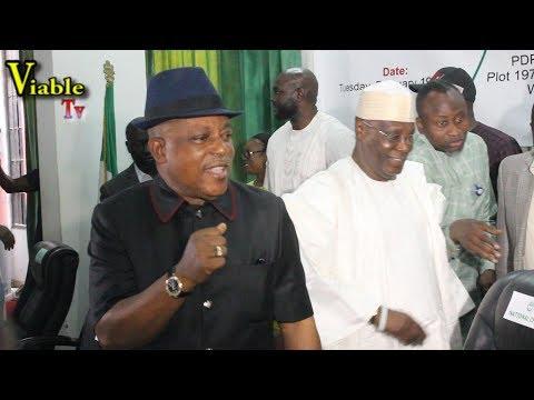 Just In : Atiku, Saraki, Dino Others Steal Show at PDP NEC Meeting, Mock, Buhari, APC