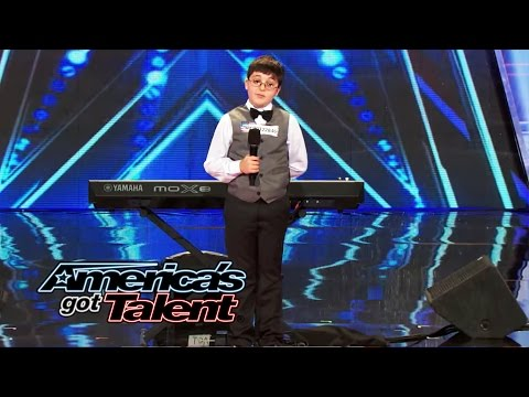 ~ America's - Adrian, a 9-year-old, piano-playing smarty pants wins over the judges with his charm and amazing musical skills. See him rock the keyboard. » Subscribe: http://full.sc/IlBBvK » Watch America's...