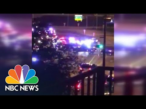 Witness Captures Sound Of Dozens Of Shots Fired Near Miami Airport | NBC News