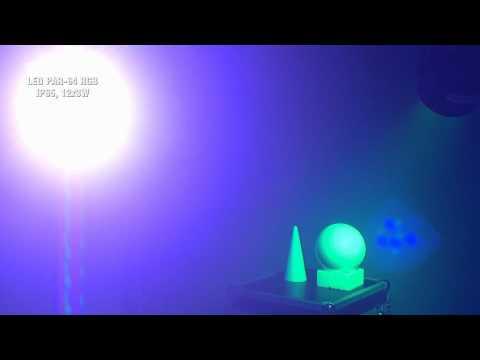 Eurolite LED IP65 PAR-64 RGB Spot 12x 3W