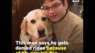 NowThisNews: Man with Service Dog Says He's Denied Rides On Rideshare Platforms Uber and Lyft