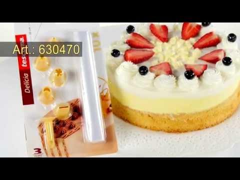 Видео Аксессуары для выпечки Tescoma Двухсекционный мешочек для украшения блюд DELICIA 30 см, 10 шт. Tescoma 630476