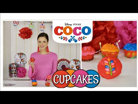 COCO CUPCAKES | Day of the dead | Baking | Tutorial | How to | DISNEY |
