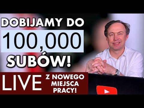 DOBIJAMY DO 100 TYSIĘCY SUBÓW! LIVE Z NOWEGO MIEJSCA PRACY!