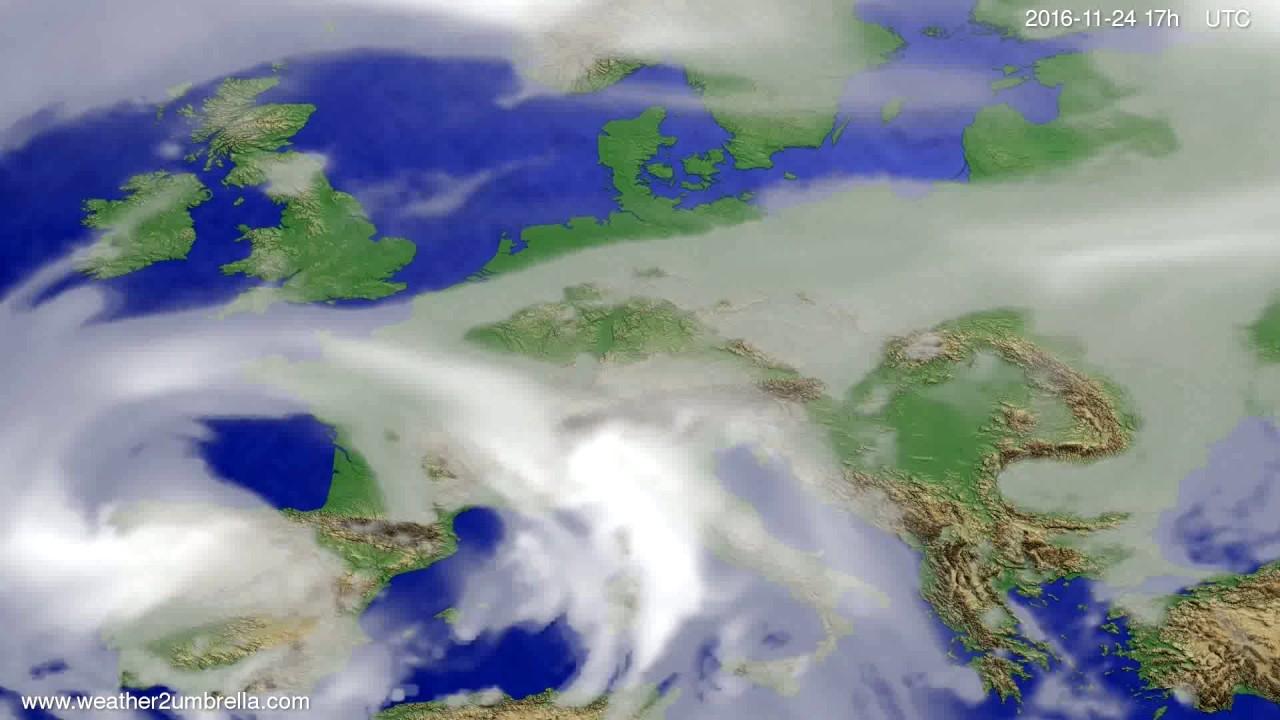 Cloud forecast Europe 2016-11-22