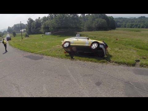 2 Rajd Ziemi Bocheńskiej 2014 | WYPADEK | video z drona [MotoRecords.pl]