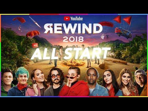 All start in youtube rewind 2018