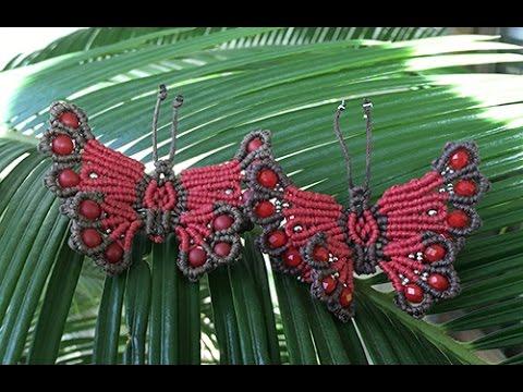 come realizzare una farfalla in macramè