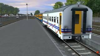 Mojokerto Indonesia  city photo : Trainz Simulator Indonesia : Lihat Kereta Api Sore Hari di Stasiun Mojokerto