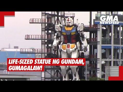GMA News Feed: Life-sized statue ng gundam, gumagalaw!