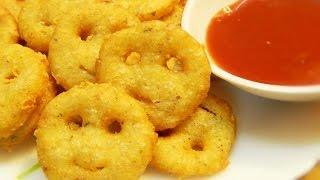 How to make Potato Smiley / Potato smiley recipe / Kids snack , Tiffin recipe by Khana Manpasand