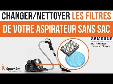 Comment changer ou nettoyer les filtres de votre aspirateur sans sac SAMSUNG ?