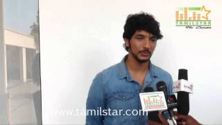 Gautham Karthik at Vai Raja Vai Movie Press Meet