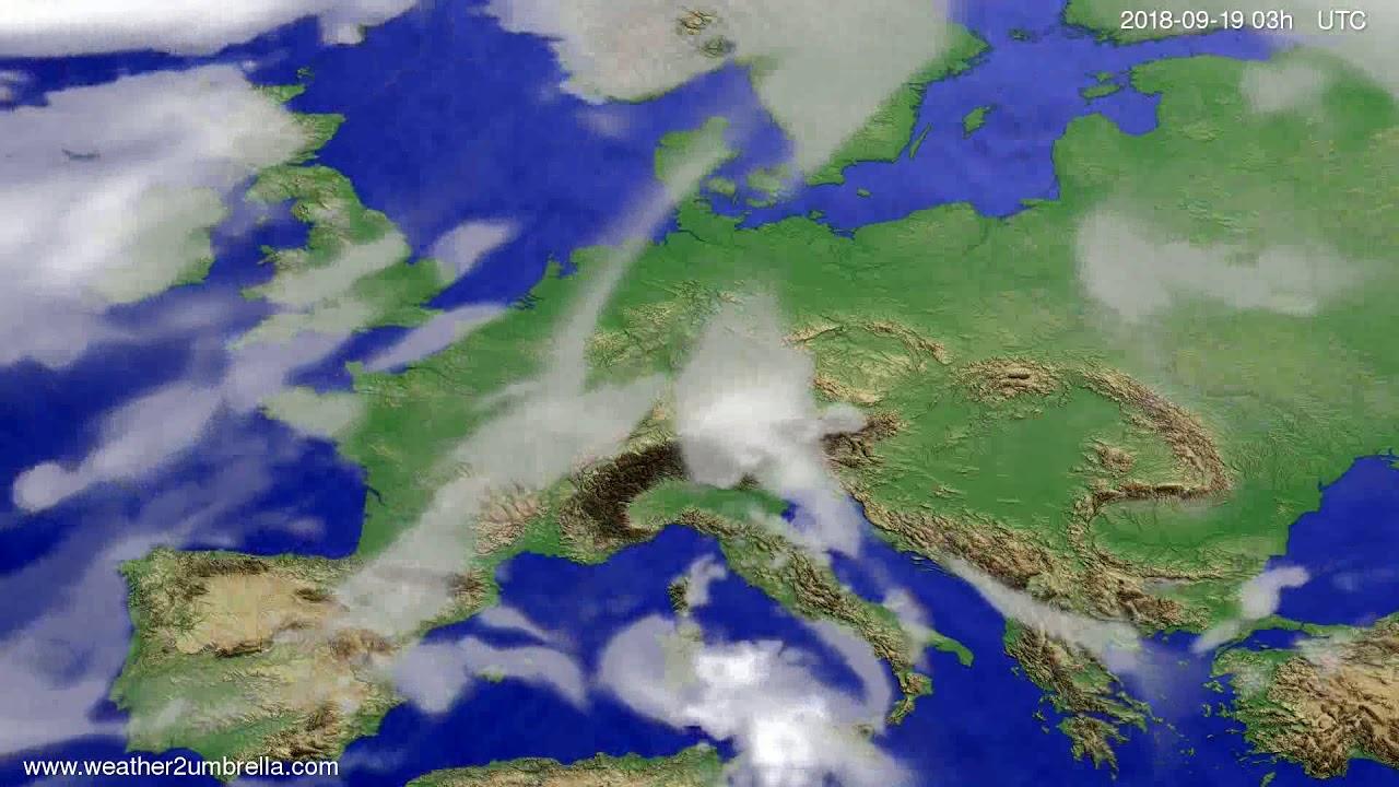 Cloud forecast Europe 2018-09-16