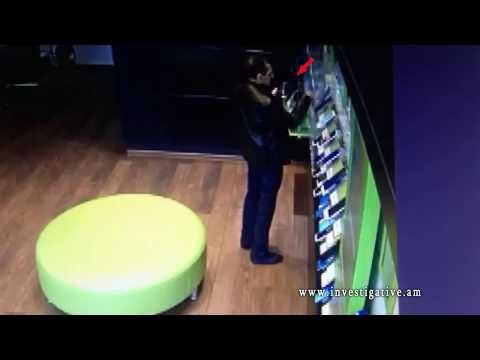 Հեռահաղորդակցական ընկերության սպասարկման սրահից գաղտնի հափշտակել է բջջային հեռախոս (տեսանյութ)