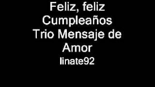 Feliz Feliz Cumpleaños Cristiano Trio Mensaje De Amor