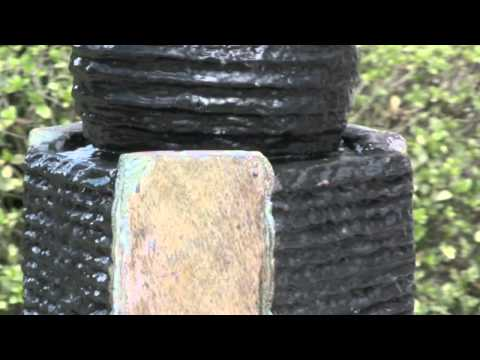 Video for Rushmore Natural Slate Indoor/Outdoor Floor Fountain