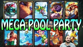 10 POOL PARTY SKINS - SKIN BATTLE 5v5 - Ziggs Mid