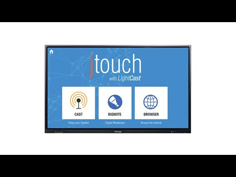 Infocus Jtouch Interactive Display (short review/demo  of LED screen)