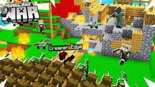 Minecraft Raiding & Capturing Enemies VILLAGE! (Minecraft War #18)