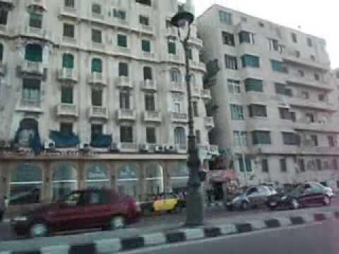 A Orla de Alexandria no Egito - Viagem Mundial