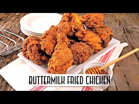 Buttermilk Fried Chicken - Double Dipped and Double Fried (видео)