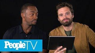 Video Kids Interview 'Avengers: Infinity War' Stars Sebastian Stan & Anthony Mackie | PeopleTV MP3, 3GP, MP4, WEBM, AVI, FLV September 2018