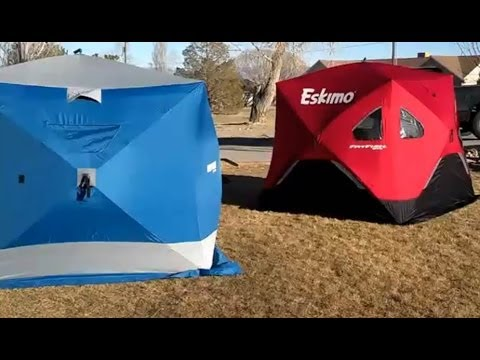 Ice Fishing Shelter Comparison - Clam Bigfoot Vs Eskimo Fatfish